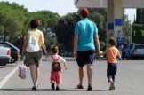 famiglia con due bambini