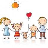 disegno famiglia con tre figli