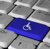 tastiera pc con simbolo disabili