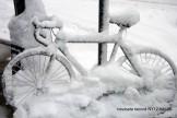 bicicletta sotto la neve