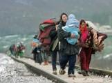 profughi in cammino