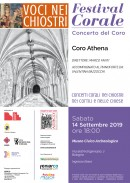 Voci nei chiostri - Concerto del Coro Athena