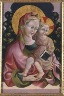 Giovanni da Modena, Madonna con Bambino e libro, tempera su tavola, Ferrara, Pinacoteca Nazionale