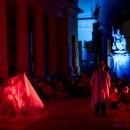 Certosa di Bologna, estate 2020. Teatro circolare, 'Al lume de' cipressi - Passeggiata gotica'. Foto Michele Brusa.