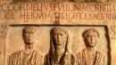 La stele dei Cornelii, Lapidario del Museo Civico Archeologico
