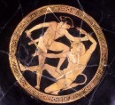 Kylix attica a figure rosse