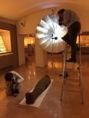 Foto alla mummia di Usai, prima dell'inizio delle operazioni direstauro