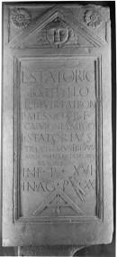 Lapide di L. Statorio Batyllo dal muro del Reno
