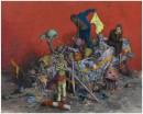 Jonas Burgert, Stückfrass (2013), olio su tela, 240x300 cm