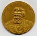 Medaglia in oro, 1905. Incisione di Giuseppe Janesich su disegno di Giovanni Mayer
