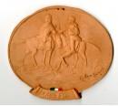 Medaglione in terracotta commemorativo del 150° anniversario della battaglia dell' 8 agosto 1848