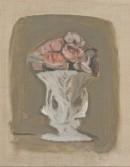 Giorgio Morandi, Fiori, 1946 (V.501), olio su tela 24,5 x 19 cm, collezione Enos e Alberto Ferri, deposito in comodato gratuito al Museo Morandi da luglio 2020