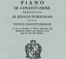Piano di Constituzione presentato al Senato di Bologna dalla Giunta Costituzionale