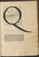 Lettera Q disegnata da Luca Pacioli nel suo Divina proportione opera a tutti glingegni perspicaci e curiosi necessaria, Venezia, Paganino Paganini, 1509.