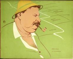 Caricatura di Giovanni Pascoli