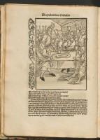 De epulonibus et bibulis, in: Sebastian Brant, Navis stultifera, Basilea, Jakob Locher, 1554.