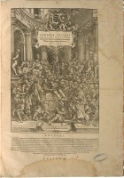 Frontespizio di Andrea Vesalio, De humani corporis fabrica librorum epitome, Basilea, Johann Oporinus, 1543.