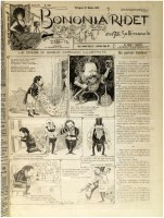 Carducci in varie caricature di Rata Langa in «Bononia ridet» (1891)