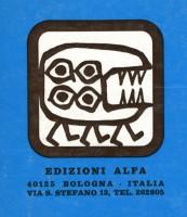 Catalogo delle Edizioni Alfa con il logo disegnato da Cuniberti