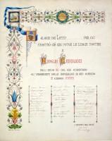 C. Raffi, Per il 40° anno di insegnamento dalla Repubblica di S. Marino, 1901