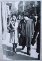 Giorgio Bassani e la futura moglie Valeria Sinigallia a Bologna (anni '40)