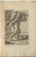Piaporco (facchino dei beccari), incisione di Giuseppe Maria Mitelli (1634-1718)