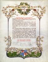 C. Capri, Per il 40° anno di insegnamento, l'Alma Mater, 1901