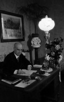Benedetto Schiassi nel suo studio (prop. Elena Brizio)