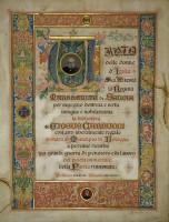 M. Turco, Margherita di Savoia a ricordo della donazione della biblioteca carducciana a Bologna, 1913