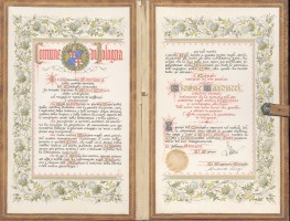 A. Tartarini, Per la cittadinanza onoraria di Bologna, 1896