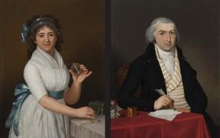 Gaspare Landi (Piacenza, 1765 - ivi, 1830), Ritratti di due coniugi, fine XVIII secolo. Courtesy Galleria Maurizio Nobile, Bologna.