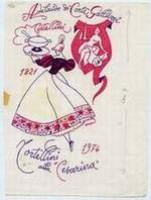 A. Cervellati, Tortellini alla 'Cesarina', 1974, inchiostro su carta