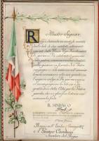 La città di Reggio per il discorso di Carducci sul Tricolore, 1897
