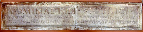 Plaque dedicated to Isis (cast)