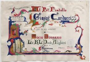 G. Scoto, Address della Loggia massonica D. Alighieri di Ravenna, 1896