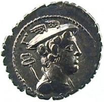 Denario in argento di C. Mamilius Limetanus