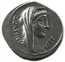 Denario in argento di Q. Cassius Longinus