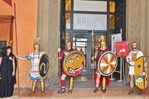 all'entrata del museo (foto Gian Marco Borgia)
