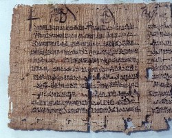 "Papyrus with ""Neo-Egypitan miscellany"""