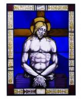 Vetrata raffigurante Cristo in pietà