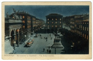 Monumento a Garibaldi e via Indipendenza