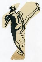 Passo di danza, inchiostro su carta