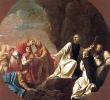 Giacomo Antonio Boni, Roberto d'Angiò offre la tiara a Pietro da Morrone, acquisizione, 1997, Collezioni Comunali d'Arte