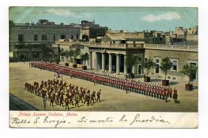 Cartolina illustrata a colori spedita da La Valletta (Malta) e diretta a Milano