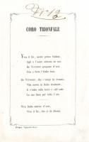 Coro trionfale cantato alla Festa al Teatro Comunale