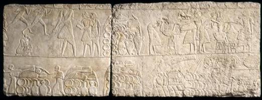 Rilievo dalla tomba di Horemheb con derrate alimentari
