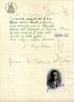 domanda immatricolazione Bassani all'Università di Bologna, 1934