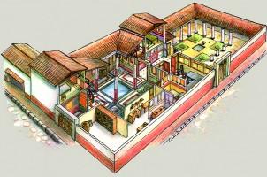 Disegno ricostruttivo di una domus