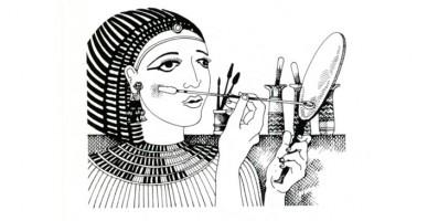 Donna egiziana che si trucca