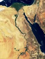 Foto satellitare dell'Egitto